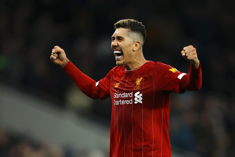 Firmino celebra el gol del Liverpool de Klopp.