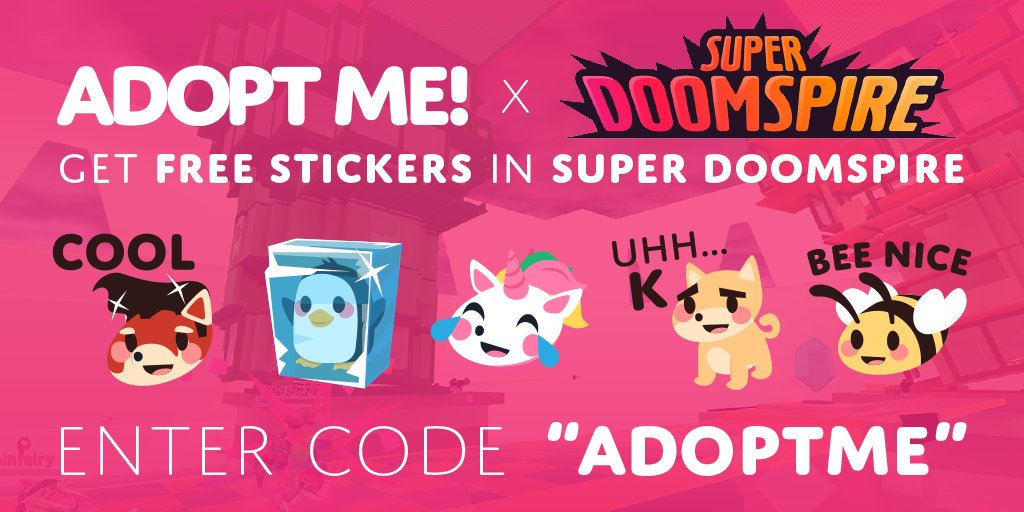 Adopt Me On Twitter Get Free Adopt Me Stickers In