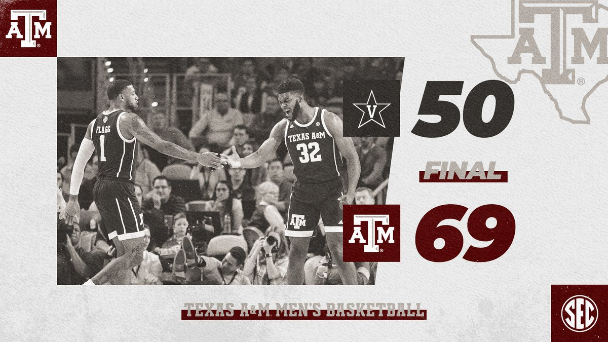 Road warrior mentality. ⚔️🛡️ 📝 Largest conference road win since beating UGA by 34 on 1/16/16 #GigEm