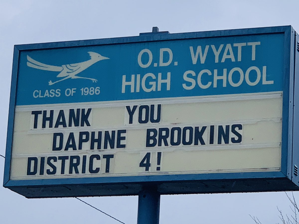 Thank You Brookins for leading district 4!!! @InsideFWISD