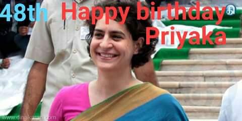 48th happy birthday Priyanka gandhi