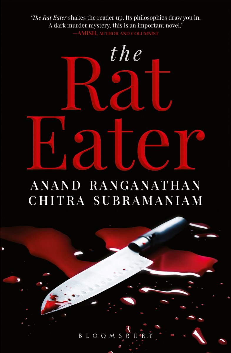 Delighted to announce the publication by @BloomsburyIndia of the revised edition of The Rat Eater, a novel co-authored with @chitraSD.Link for paperback and kindle [Read the first two chapters via 'Look Inside']: https://www.amazon.in/Rat-Eater-Anand-Ranganathan-ebook/dp/B07ZF7DYNX/ref=dp_kinw_strp_1…