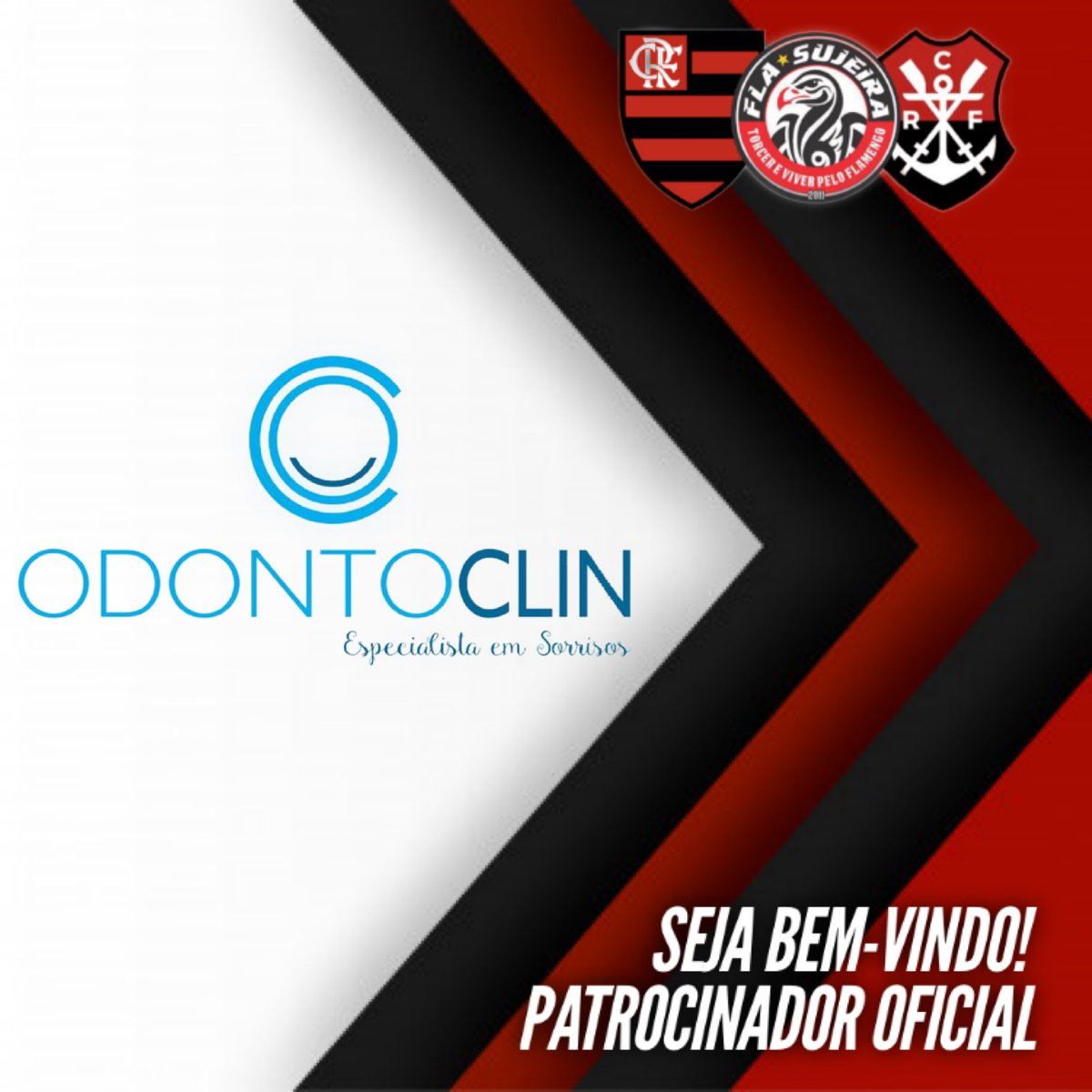 A OdontoClin de Parnaiba-PI é a nova patrocinadora oficial da FLASujeira. Vai estampar a sua marca em nosso uniforme de futebol. Obrigado pela parceria e que seja duradoura!  Sigam: @odontoclinphb no Instagram. pic.twitter.com/GpymOAc0OG