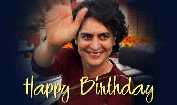 Happy birthday to Priyanka Gandhi Vadra. God bless you on this auspicious day.