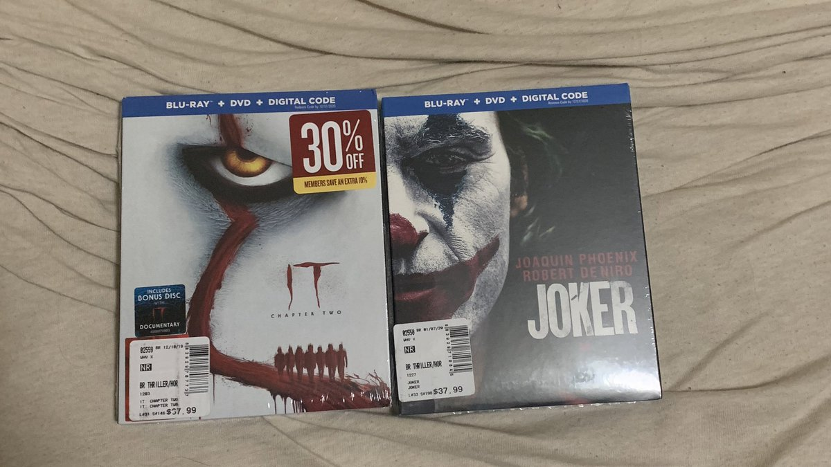 acquired two (2) clown movies today