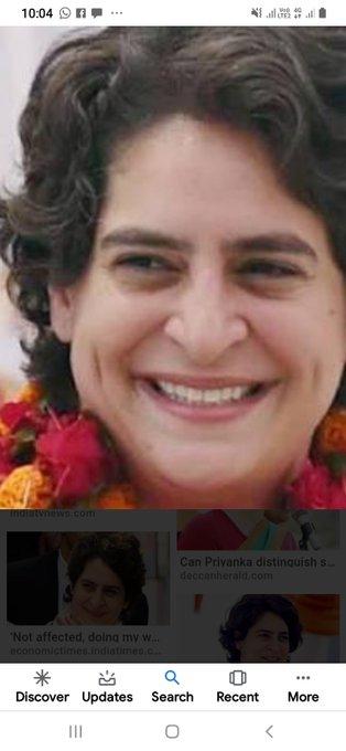 Happy birthday to you=Priyanka Gandhi