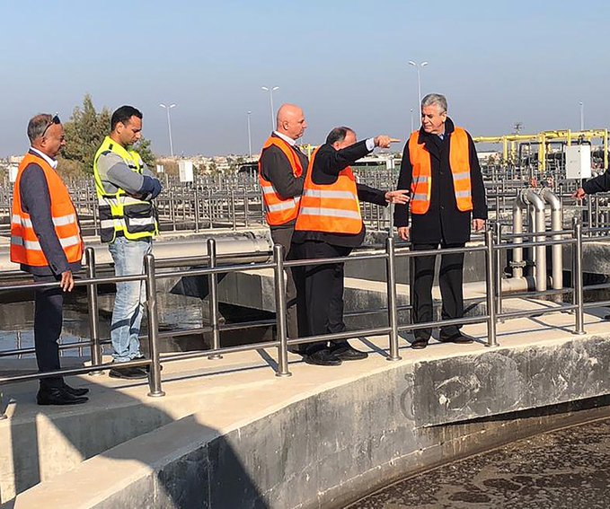 A welcome contribution to reducing the water and pollution crises in #Gaza