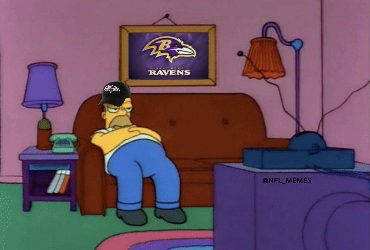 Nfl Memes On Twitter Ravens Fans Still Sitting In Front Of Their Tvs Like