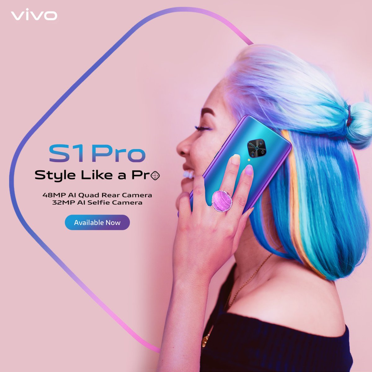 No matter what the look, the Jazzy Blue #vivoS1Pro goes well with it. Grab the style icon today at INR 19,990/- Enjoy cashbacks, EMI & One Time Screen Replacement offers on every purchase. #StyleLikeAProKnow more : http://bit.ly/2FhaiH1