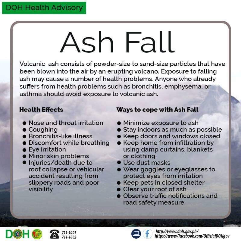READ: The Department of Health warns against the effects of ashfall.