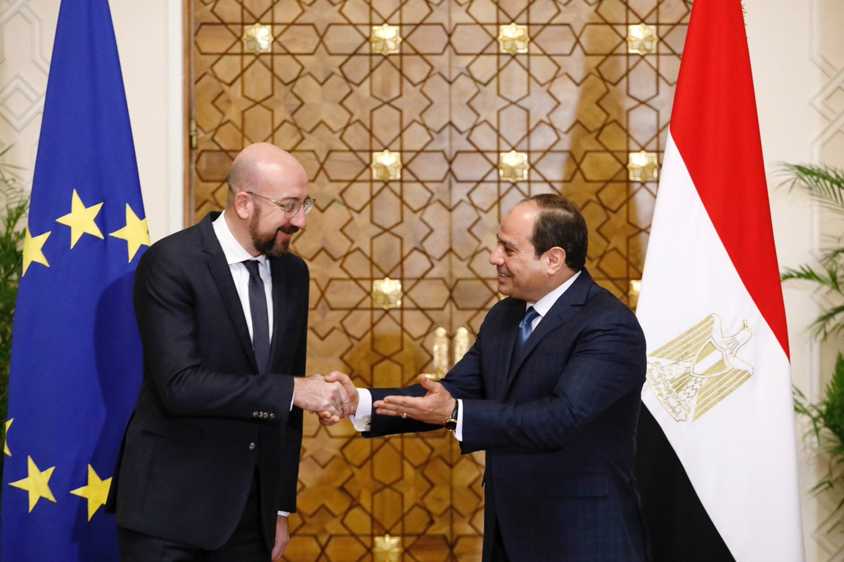 Meeting with the Egyptian president @AlsisiOfficial in Cairo today. The situation in #Libya was at the core of our discussion. The Berlin process is the only way forward. Dialogue and negotiations are needed more than ever.