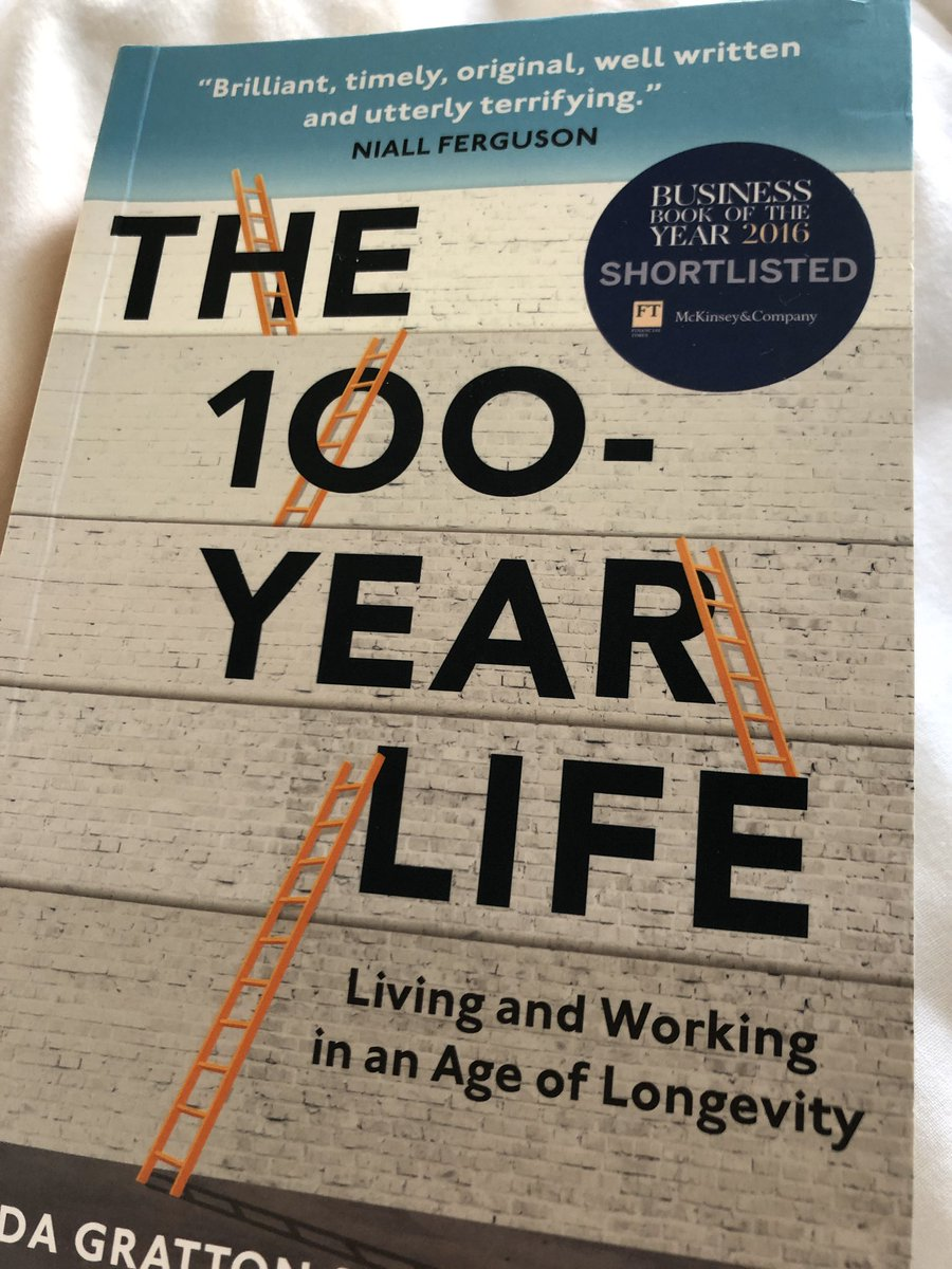@ruthiesun @katebevan If you haven't already, read this book, the three stage life of education-work-retirement no longer applies. Lots of myth busting and food for thought on the future of work.