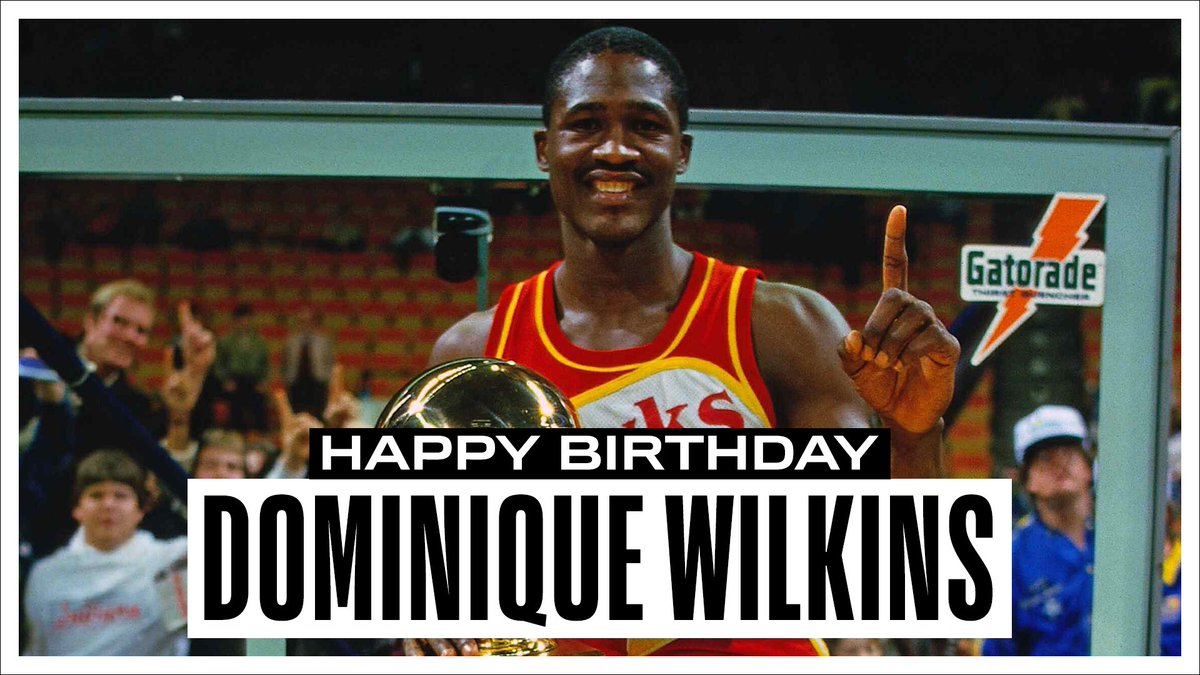 Join us in wishing a Happy 60th Birthday to 9x #NBAAllStar, @Hoophall inductee and the @ATLHawks all-time leading scorer, Dominique Wilkins! #NBABDAY