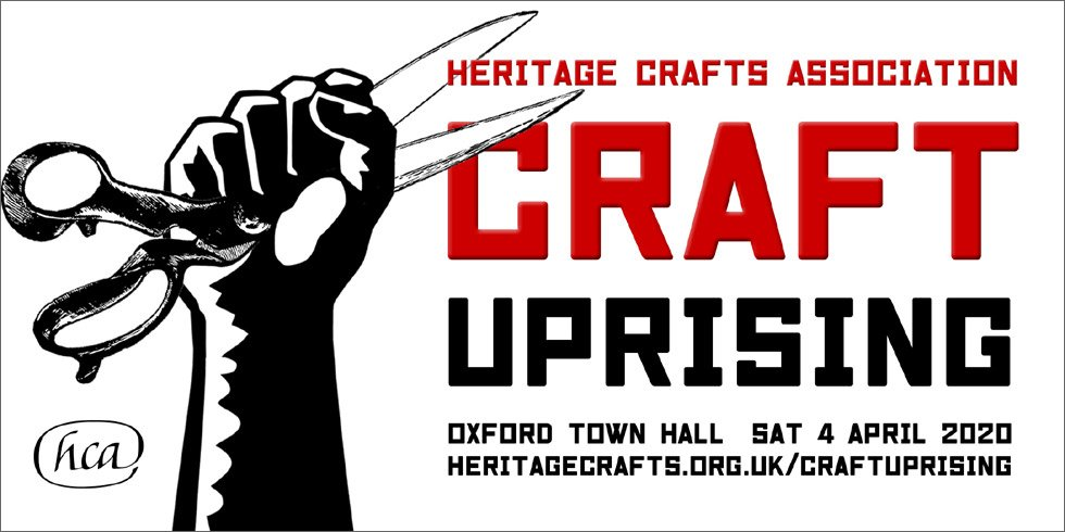 (And gather the troops for #CraftUprising if you have any interest in @heritage_crafts and #craftivism.) @KitdeWaal @boccabaciata @stellduffy
