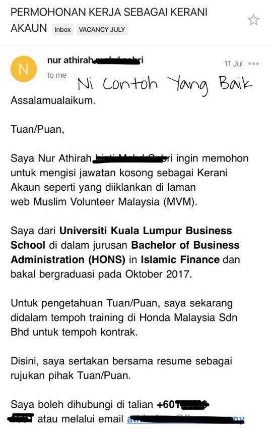 Work Co Resumemurah On Twitter Ada Juga Contoh Dalam Bahasa Melayu