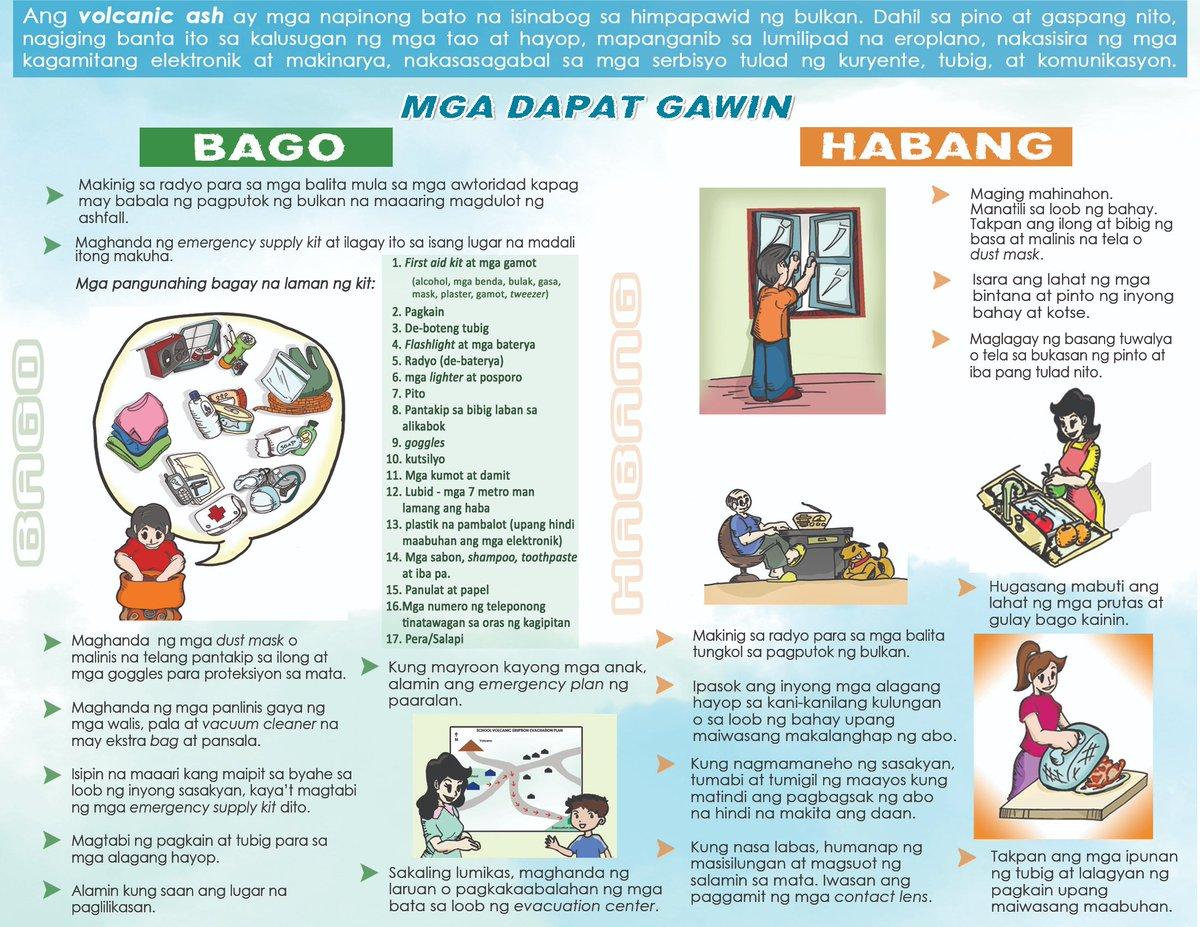 Alamin ang mga dapat gawin bago, habang at matapos ang Ashfall. #TaalVolcano #HandaAngMayAlam