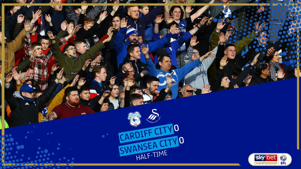 HALF-TIME Nothing to split the two sides in this South Wales derby so far! #EFL   #SkyBetChampionship