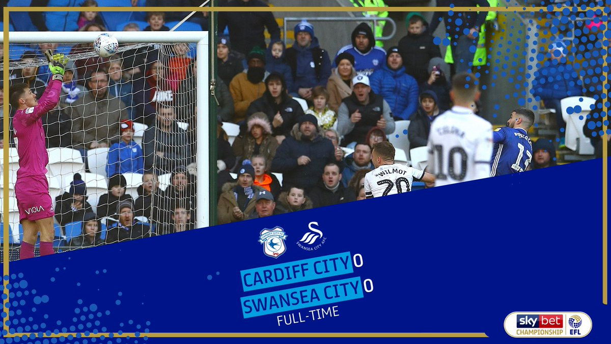 FULL-TIME It finishes level at the Cardiff City Stadium! #EFL   #SkyBetChampionship