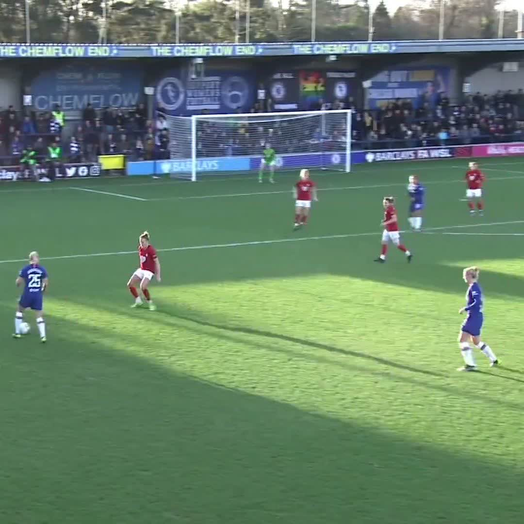 🆙 That leap from @Bethany_Eng15 🆙 @ChelseaFCW are level at Kingsmeadow #BarclaysFAWSL