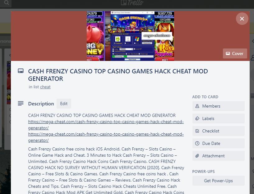 Cash Frenzy Casino Top Casino Games Hack Cheat Mod Frenzytop