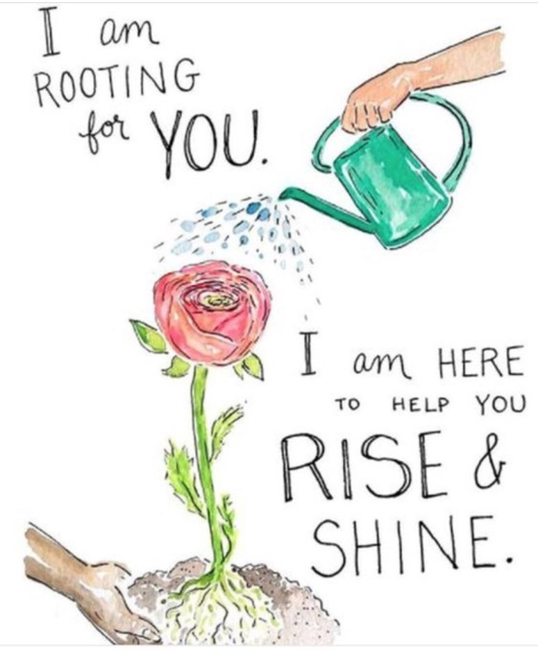 I Am Rooting For You.  I Am Here To Help You Rise & Shine  #WeekendWisdom #MindBodyThoughts #Mindfulness #BeTheChange #starfishclub  #GoldenHearts  #JoyTrain  #FamilyTrain  #ThinkBIGSundayWithMarsha<br>http://pic.twitter.com/u55VuONq0w