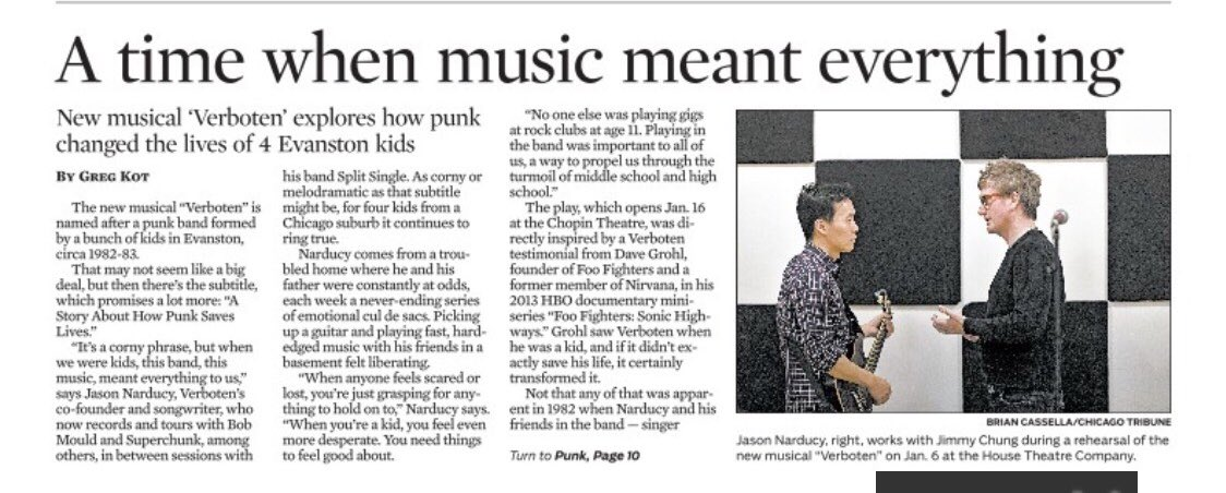 Print version of Verböten Chicago Tribune article is out today. Thank you @gregkot!