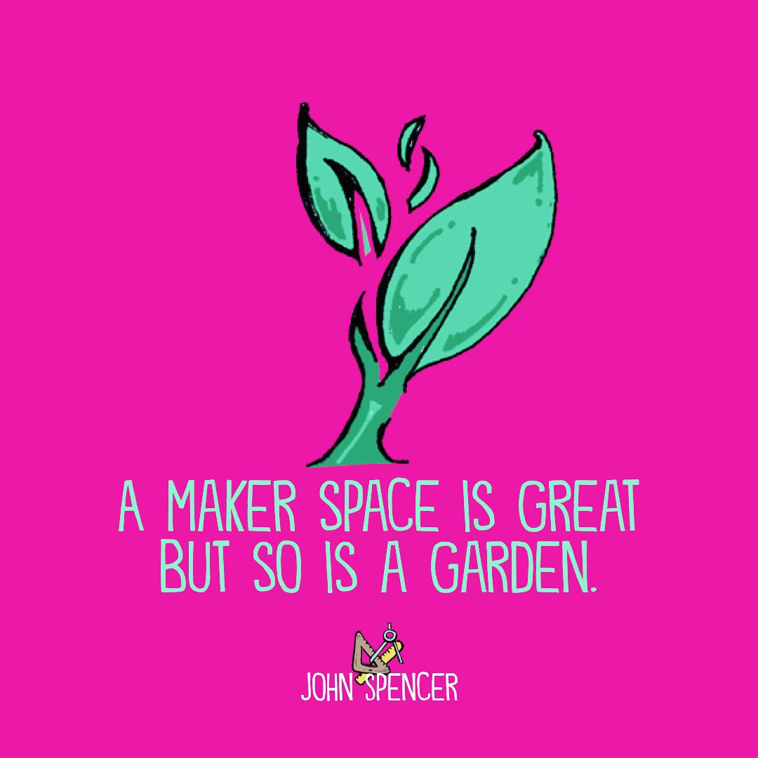 One of my favorite maker spaces I visited was in Australia. It had a seamless flow to a greenhouse and a garden. Natural spaces are critical for creativity.