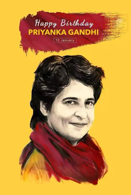 Dynamic Leader Priyanka Gandhi ji  Wish you very very very Happy Birthday..