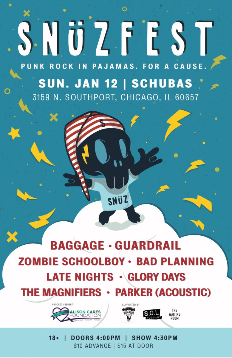 Hey Chicago: you can support local music today. Show at 4:30. $15 bucks.
