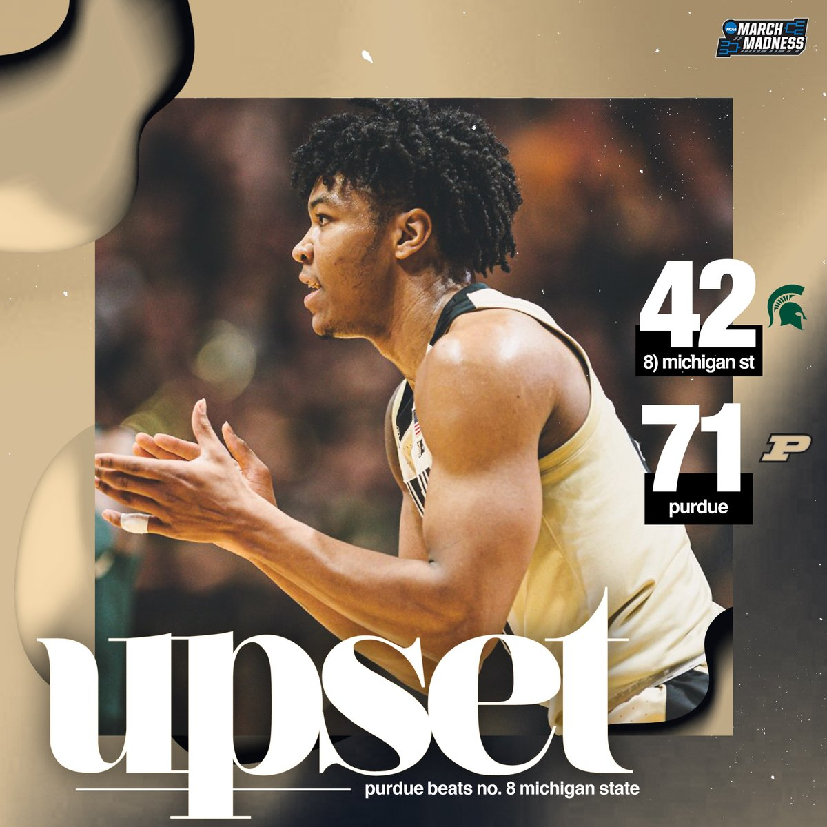 BOILER ALL THE WAY UP!   Purdue defends Mackey & ROLLS No. 8 Michigan State! #BoilerUp 🚂 https://t.co/59m8oba1D8