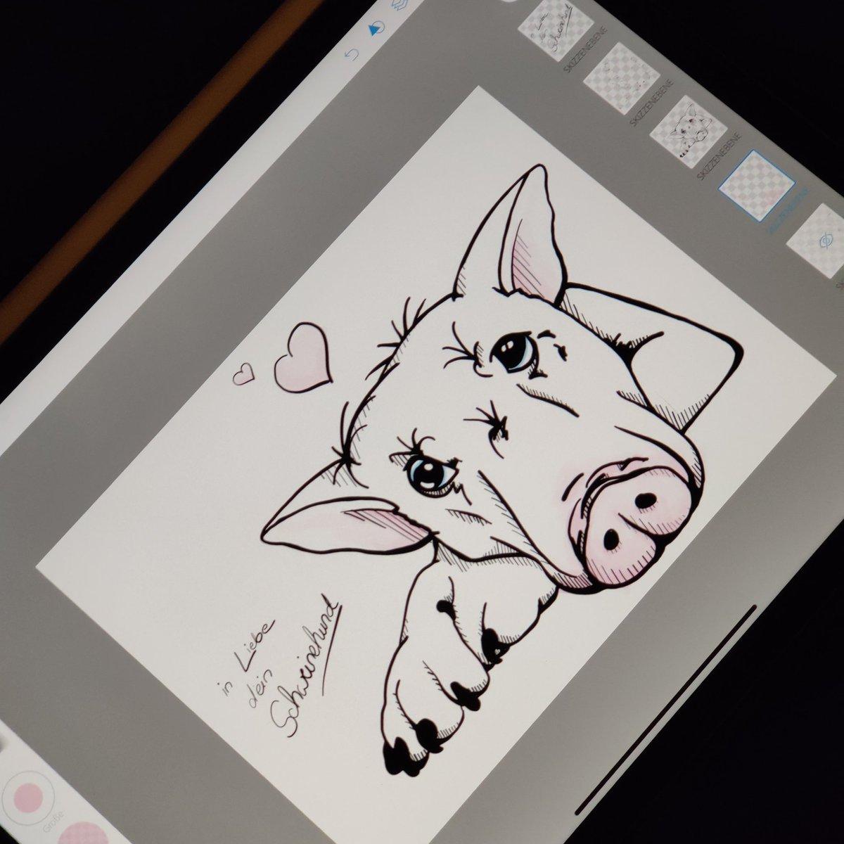 Ein kleiner Schweinehund  am Wochenende   Nächste Woche wird wieder gestreamt...bisschen Webseite bauen und natürlich Zeichnen #stream #twitch  #artchallenge #zeichnen #digitalzeichnen #photoshopsketch #schweinehund #skribble #digitalart #digitalartwork #artworkpic.twitter.com/nN3niENnIu