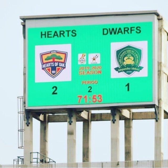 HEARTS RECORD FIRST WIN   Accra Hearts of Oak have recorded their first win in the 2019/2020 Ghana Premier League after defeating Ebusua Dwarfs 2-1 at the Accra Sports Stadium in Match Day 3  Match Day1 Hearts 0-1 Berekum Chelsea  Match Day2 Hearts 0-3 Medeama   #BringBackTheLove