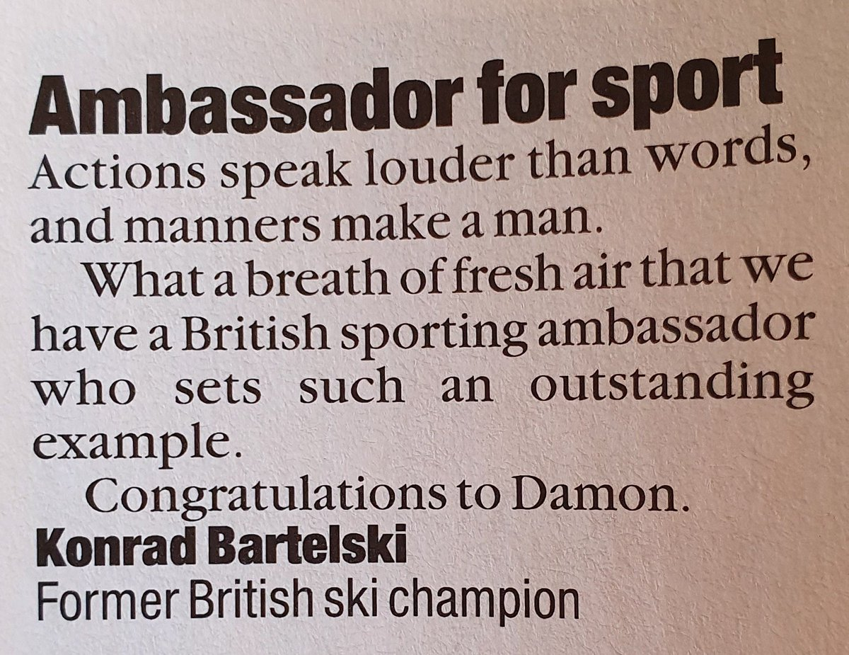Thanks Konrad! You're a fine man yourself. But you know that. #F1 #BritishSkiTeam