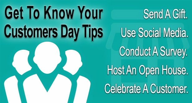 """""""Get to Know Your Customer Day"""" happens again January 16th (third Thursday of each new quarter). #smallbiztips #GetToKnowYourCustomer<br>http://pic.twitter.com/lMtbjIiKT6"""