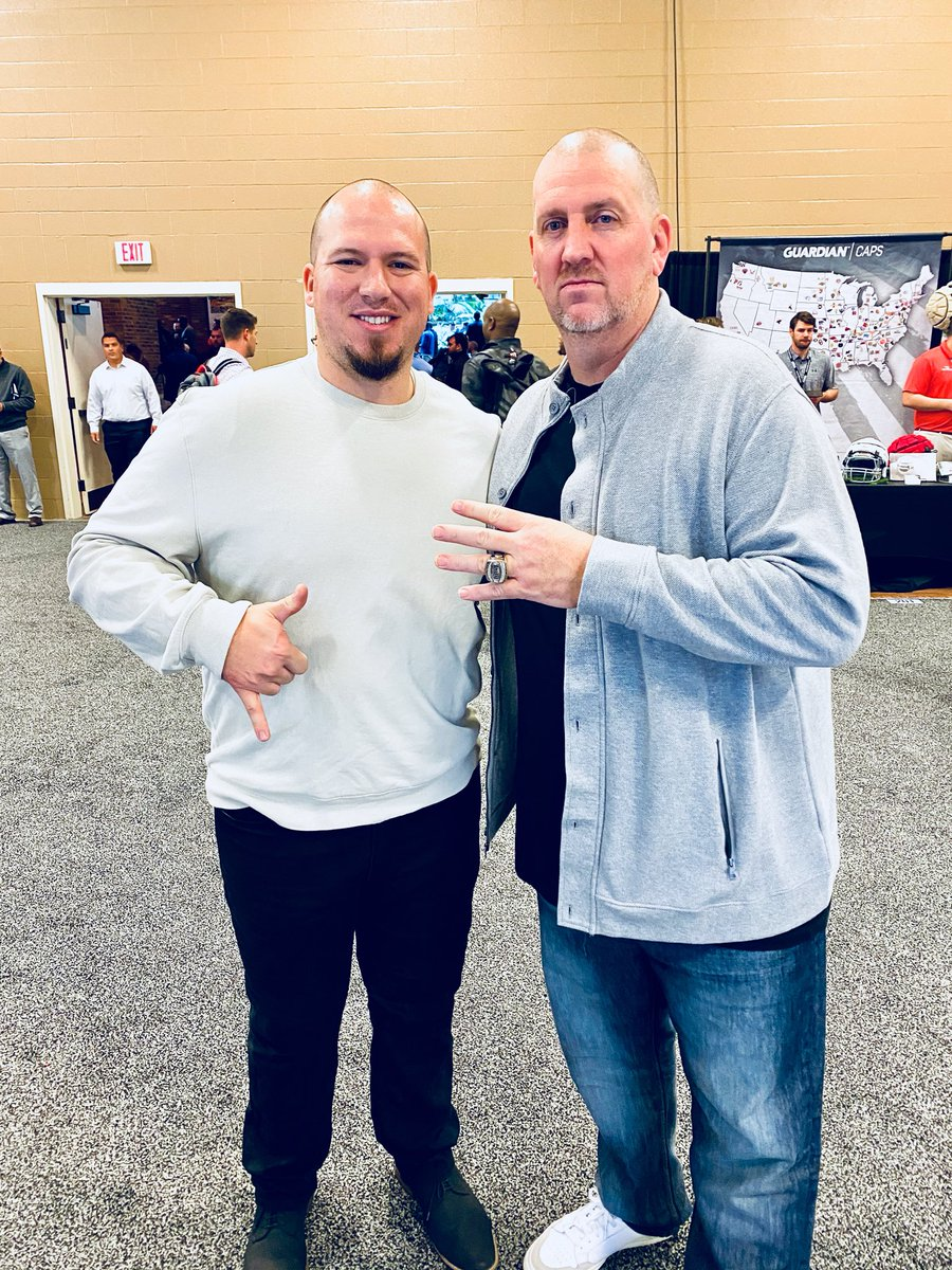 Our HC @ToddDrury with the realest coach here at #AFCA2020 @TheRealCoach_JB #PickAxeTakeNames