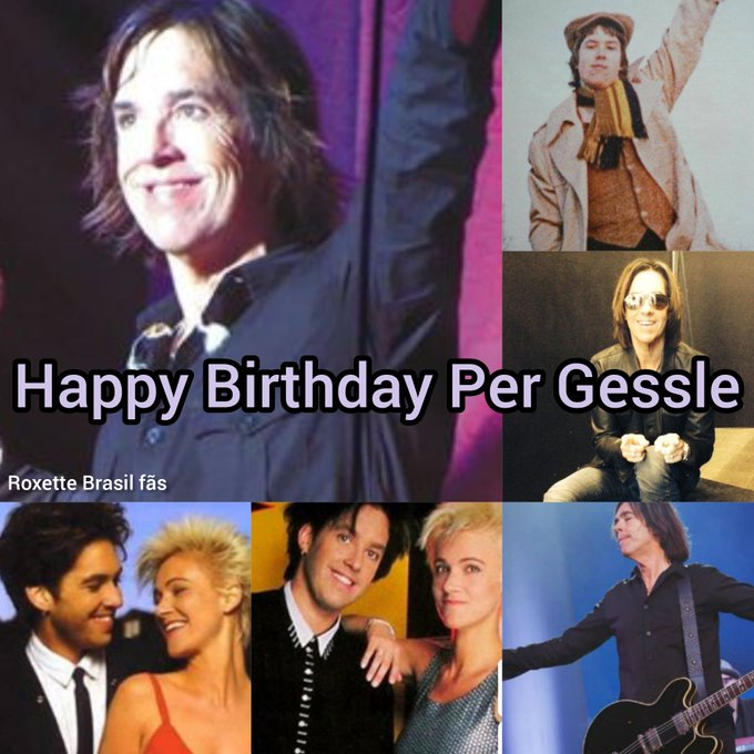 Happy Birthday Per Gessle  a alma do roxette, 61 anos desse cara especial!