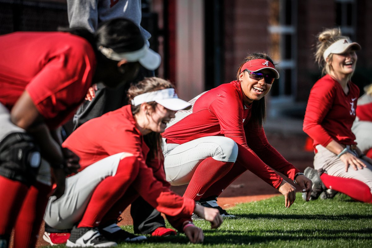 Sunday Funday 🥎😁 First day of spring practice for #Team24 #RollTide