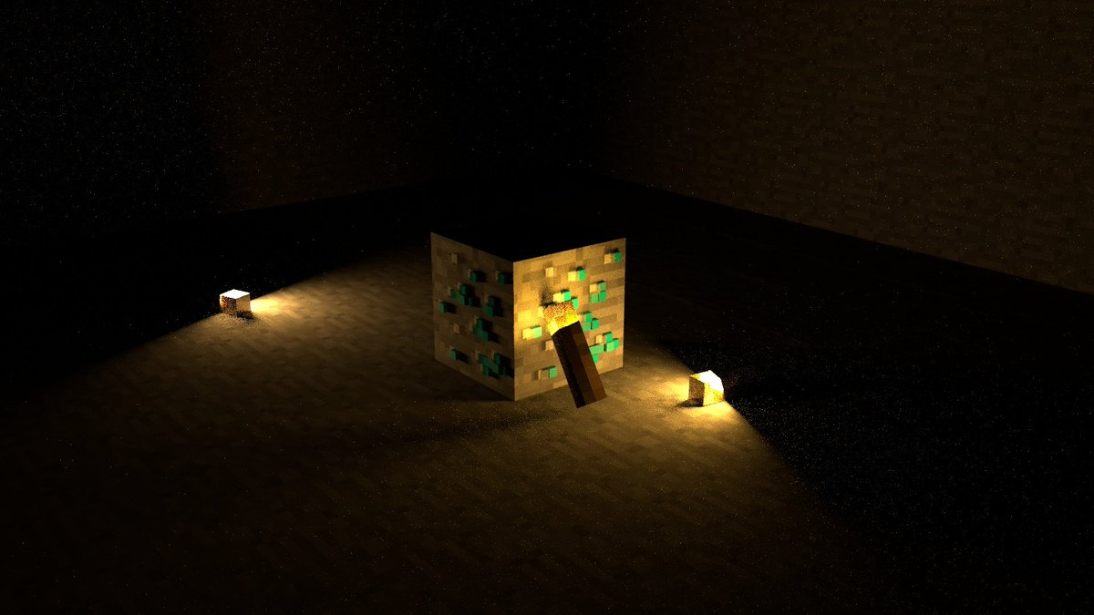 3D render made in maya. I wanted to play a bit with lights and illumination.  #Art #3D #3Dart #render #3drender #illustration #Minecraft #gaming #Xbox #PS4 #PlayStation #NintendoSwitch #Nintendo #Minecraftart #digitalart #digitalillustration #MinecraftSundays #GamingArt pic.twitter.com/wspZrPGf4M