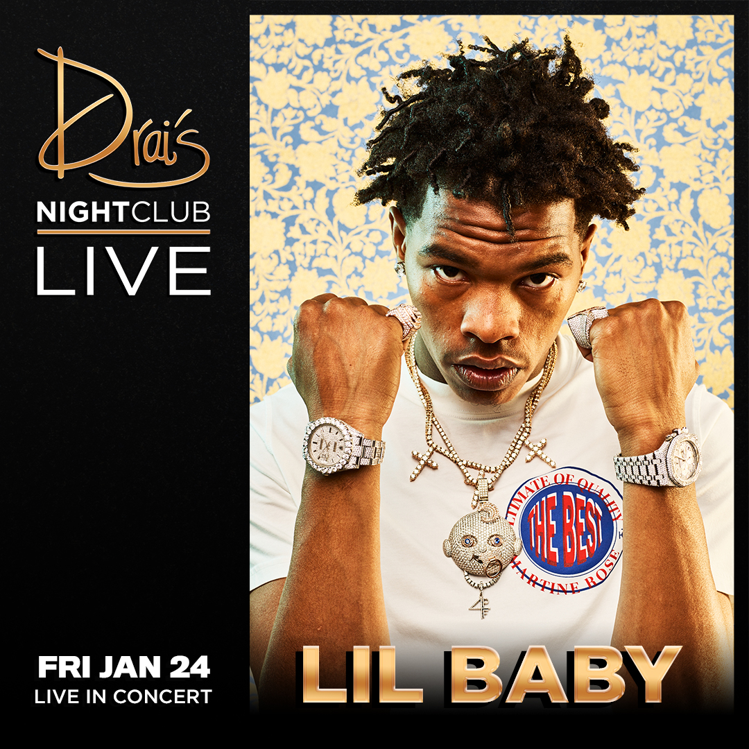 🚨BIG NEWS🚨@lilbaby4PF returns to the Drai's stage on Friday, January 24!!! Get your ticket here: bit.ly/3a1Fd8t