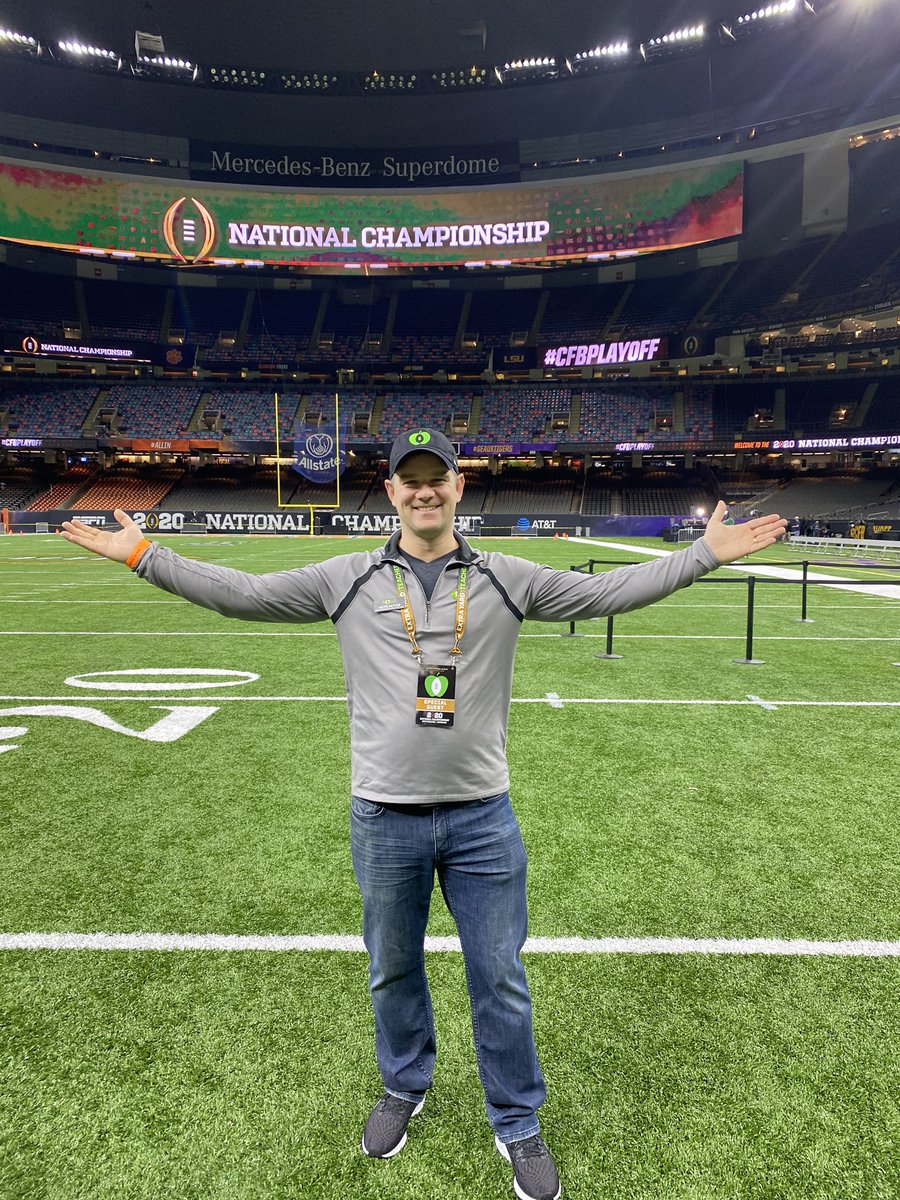 Thanks @CFPExtraYard for bringing #ntoy19 to NOLA @MBSuperdome . What a busy day walking through the stadium, enjoying the best food of NOLA at #ChampTaste Making this teacher feel extra special. THANK YOU! #ATTPlayoffPlaylistLive was incredible...@Meghan_Trainor pic.twitter.com/2Nn7FkqKcX