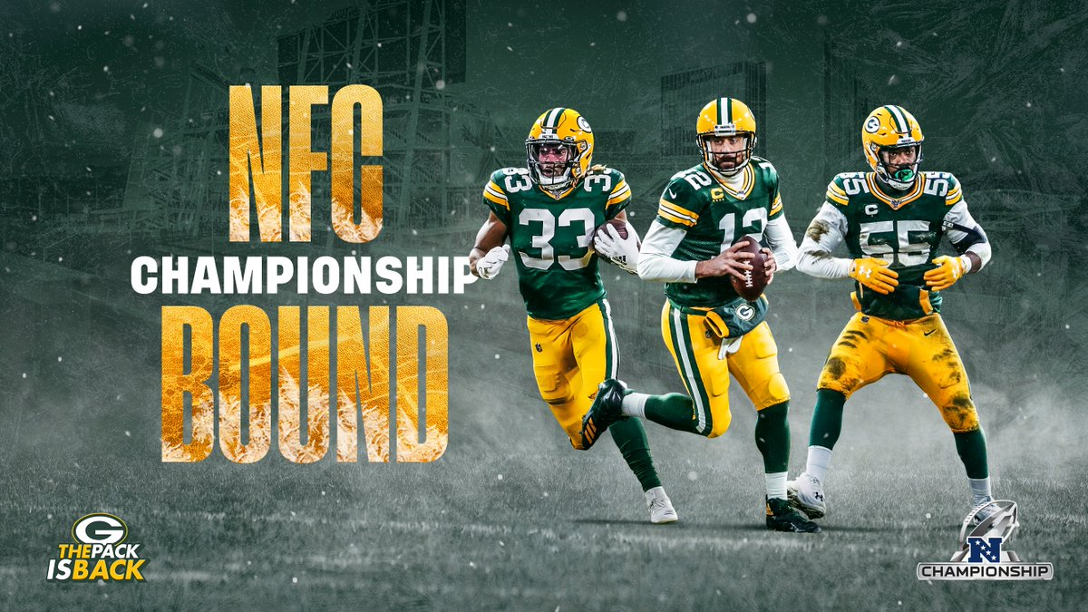 On to the NFC Championship Game! #ThePackIsBack   #GoPackGo