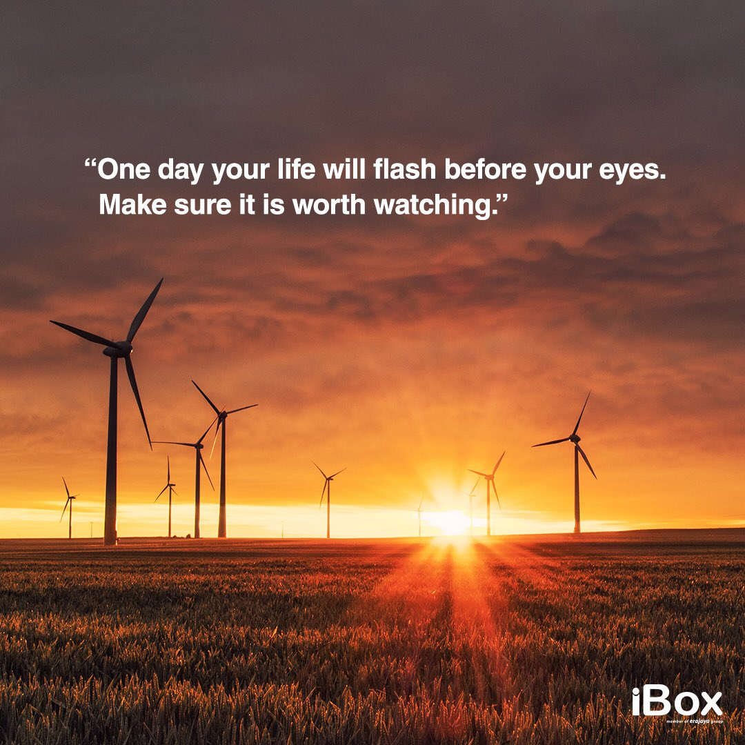 """One day your life will flash before eyes. Make sure it is worth watching.""  #QuotesonMonday #iBoxIndonesia https://t.co/AWEQBmZtSS"