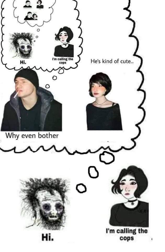 doomer guy x girl meme