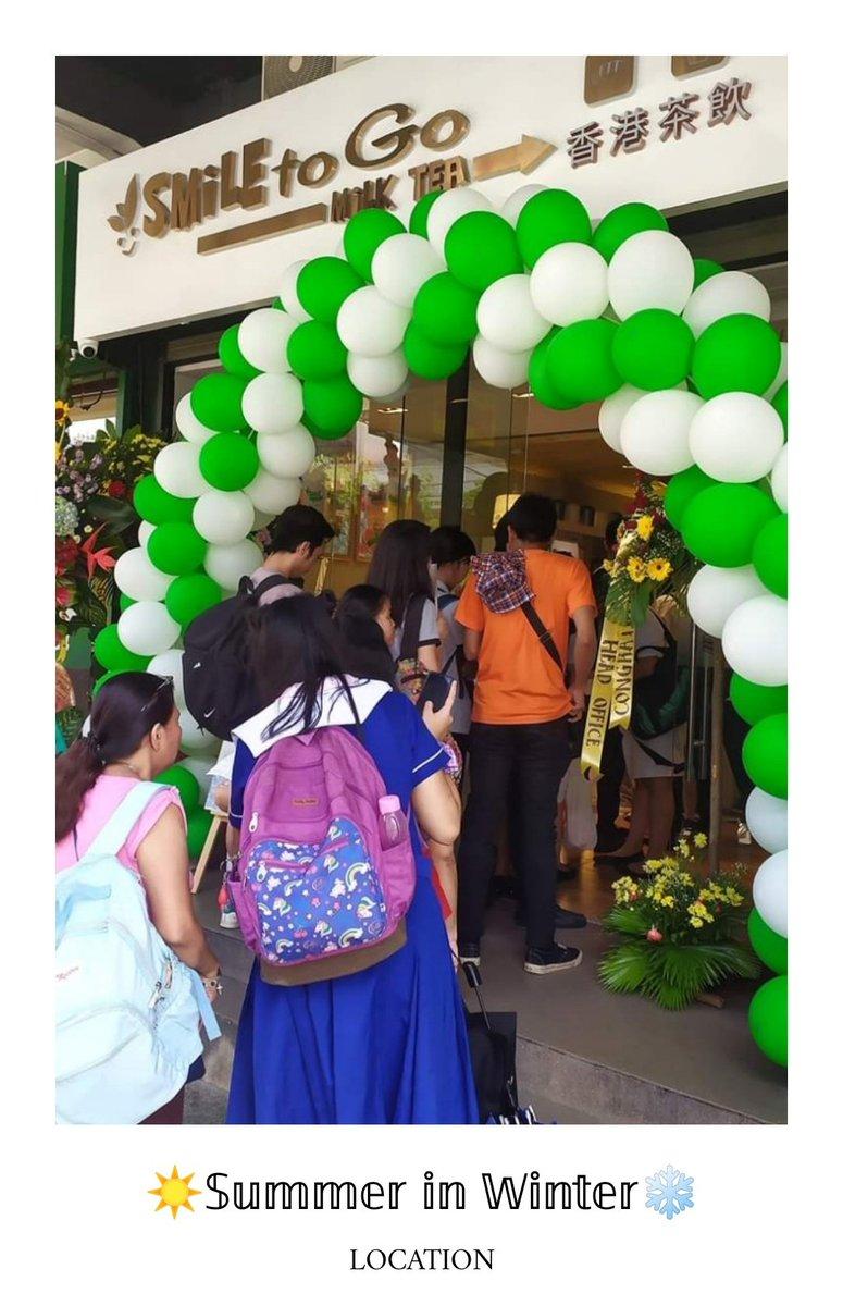 𝕊𝕦𝕞𝕞𝕖𝕣 𝕚𝕟 𝕎𝕚𝕟𝕥𝕖𝕣  FAQs | LOCATION  SMILE TO GO - LEGARDA MANILA BRANCH Near: Mendiola Peace Arch  This is own the store front looks like (minus the balloons )  #kimjaejoong #SummerinWinter #SUMMERINWINTERKJJpic.twitter.com/eUXnct7RXr