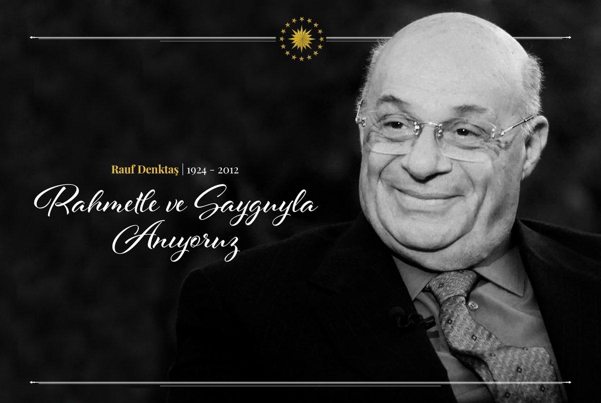 Kuzey Kıbrıs Türk Cumhuriyetinin Kurucu Cumhurbaşkanı, ömrünü Kıbrıs davasına adamış olan merhum #RaufDenktaş'ı vefatının 8. yıl dönümünde saygı ve rahmetle yâd ediyorum.