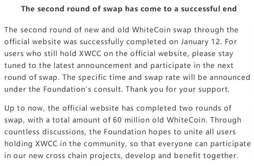 WhiteCoin description