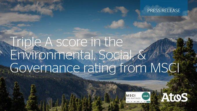 @Atos obtiene la triple A en el ranking elaborado por Morgan Stanley Capital International...