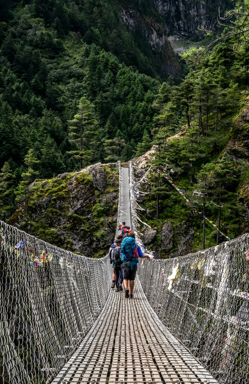 Travel Creates Memories that last a lifetime.#travelnepal #VisitNepal2020 #nepal #kathmandu #treknepal #Tour2020  #trekking #vacation #suspensionbridge #ABC2020 #wishingflags #yatrasansar