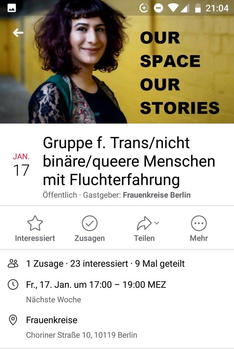 Berlin: #Frauenkreise startet eine Gruppe für trans, nicht-binäre und queere Menschen mit Fluchterfahrung. Diesen Freitag ist das nächste Treffen. Mehr Infos auf fb: http://bit.ly/36KfJue #QueerEngagiertpic.twitter.com/UGlvwMwjJ2