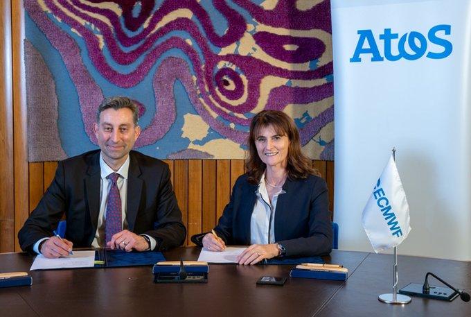 @Atos ha firmado un contrato de 4 años con el Centro Europeo de Previsión...
